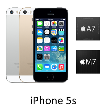 iPhone 5S A7 handset White and Gold - Hero