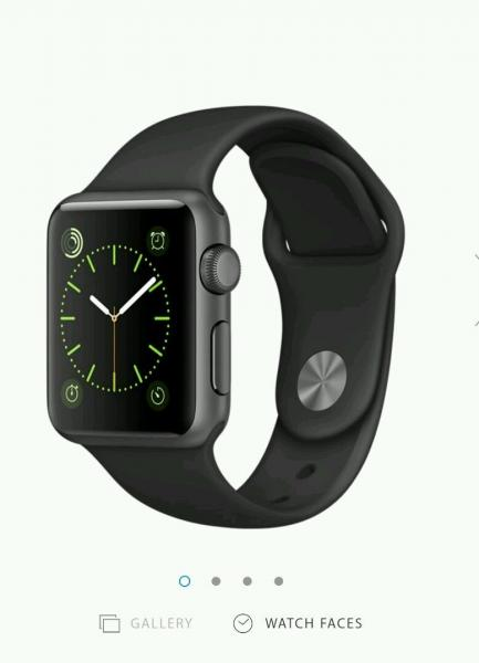 New Apple Watch Sport 38mm Aluminium Case Black £197 @ eBay
